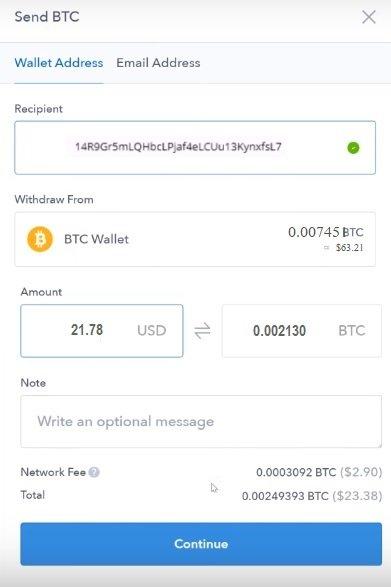 coinbase send bitcoin send bitcoin from coinbase to ledge