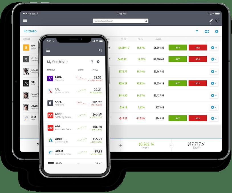 eToro-Mobile Apps